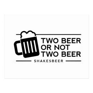"""Postal Cerveza """"dos o no dos """" cerveza divertida de la"""