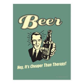Postal Cerveza: Ey es más barata que terapia