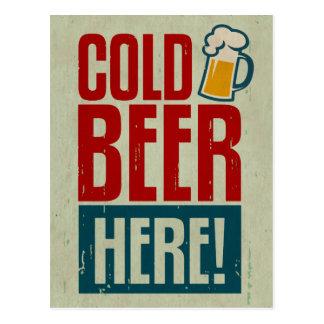 Postal Cerveza fría