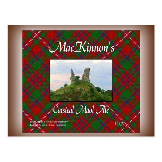 Postal Cerveza inglesa de Caisteal Maol de MacKinnon