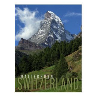 Postal Cervino en Suiza