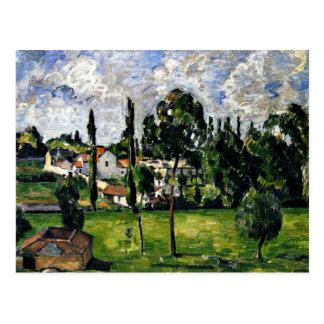 Postal Cezanne - paisaje con la línea de flotación