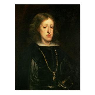 Postal Charles II de España