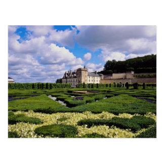 Postal chateau blanco de Villandry, región del Loira,