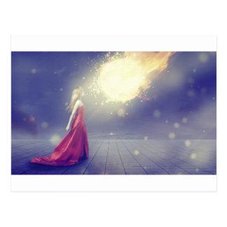 Postal Chica contra un meteorito