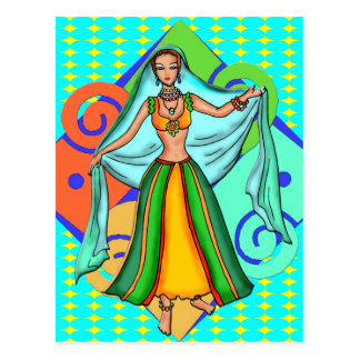 Postal Chica de danza del vientre precioso