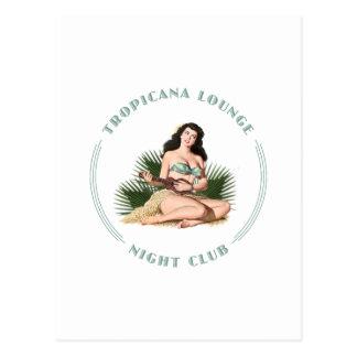Postal Chica de Hula del salón de Tropicana del club de