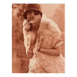 Postal Chica de la aleta de los años 20 del vintage