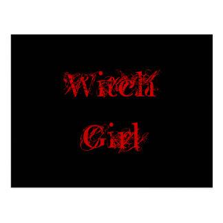 Postal Chica de la bruja