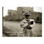 Postal ¡Chica de la foto de los 1890's del vintage con el