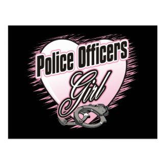 Postal Chica de los oficiales de policía