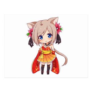 Postal Chica del Fox de Chibi