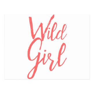 Postal Chica salvaje (expresiones feministas)
