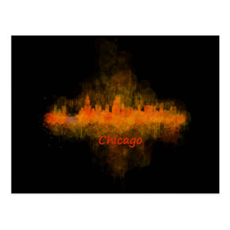 Postal chicago Illinois Cityscape Skyline Dark