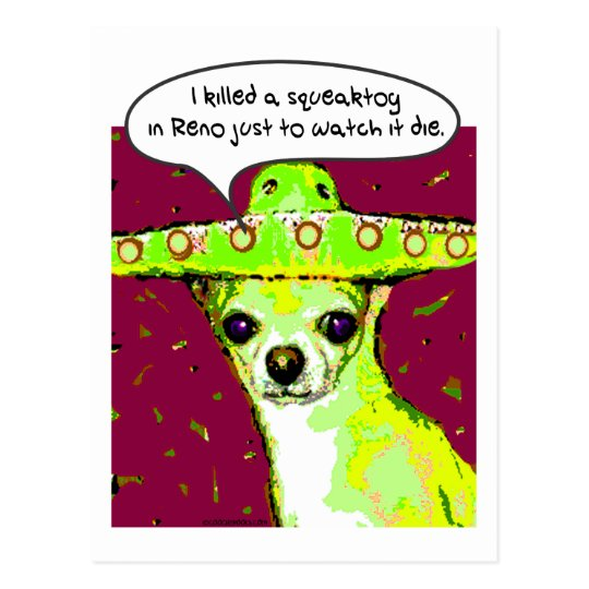 Postal Chihuahua del asesino