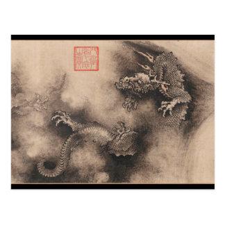Postal china de la muestra del zodiaco del año del