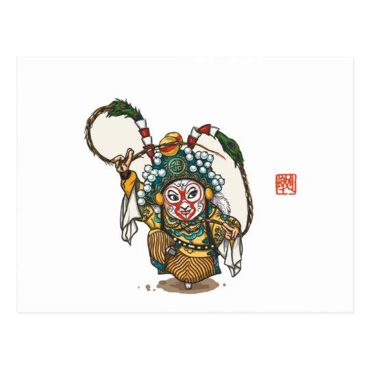 Postal china del carácter de la ópera - Sun Wukong