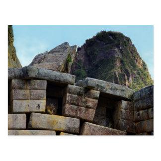 Postal Chinchilla en Machu Picchu, Perú