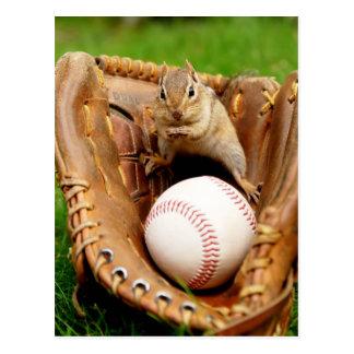 Postal Chipmunk del aficionado al béisbol
