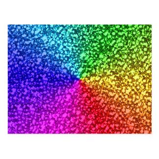 Postal chispas del brillo del arco iris