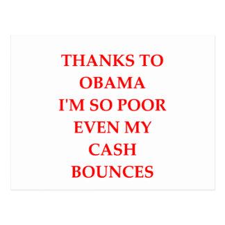 Postal chiste anti de obama