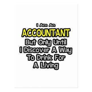 Postal Chiste del contable. Bebida para una vida
