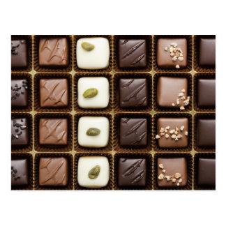 Postal Chocolate de lujo hecho a mano en una caja