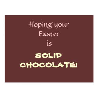 Postal Chocolate sólido Pascua