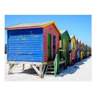 Postal Chozas coloreadas de la playa