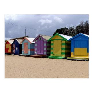 Postal Chozas Melbourne 2 de la playa