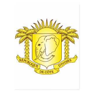 Postal Ci del escudo de armas del d'Ivoire de Cote