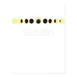 Postal Ciclo total del eclipse solar