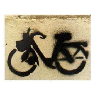 Postal ciclomotor pintada