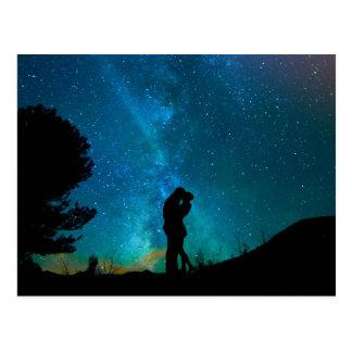 Postal Cielo colorido romántico de Starrry de los pares