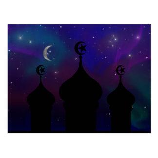 Postal Cielo nocturno del Ramadán