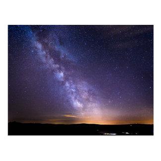 Postal Cielo nocturno estrellado colorido de Suiza