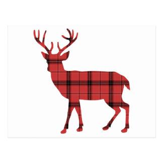 Postal Ciervos rojos del día de fiesta del navidad del