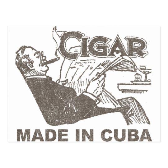 Postal Cigarro hecho en Cuba