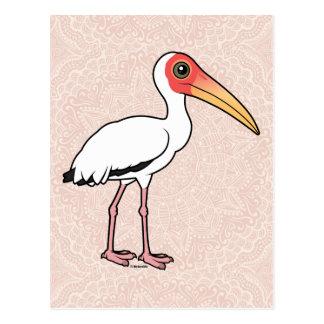 Postal Cigüeña lechosa de Birdorable