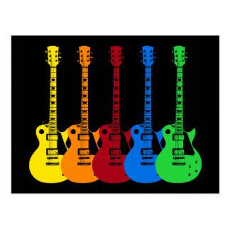 Postal Cinco guitarras eléctricas