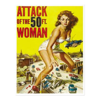 Postal Cincuenta mujeres del extranjero del pie