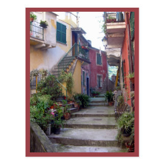 Postal Cinque Terre (calle de Monterosso)