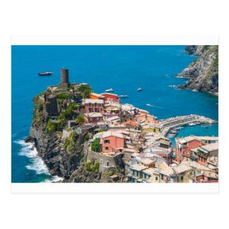 Postal Cinque Terre en Italia