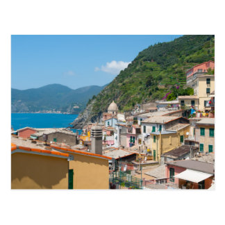 Postal Cinque Terre en la Riviera italiana