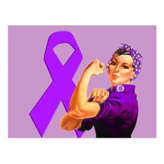 Postal Cinta púrpura Rosie de la conciencia el remachador