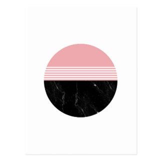 Postal Círculo de mármol geométrico mínimo