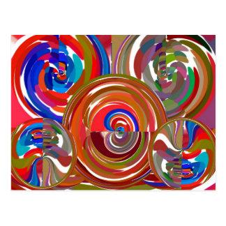 Postal Círculos de la limpieza de la aureola - mandala 7