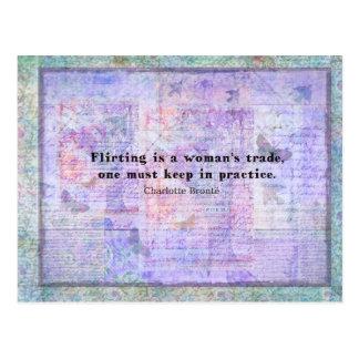 Postal Cita alegre, coqueta de Charlotte Bronte