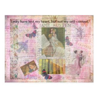 Postal cita caprichosa del AMOR de Jane Austen de Emma