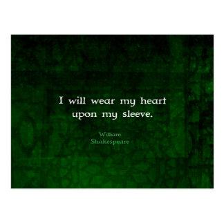Postal Cita caprichosa del AMOR de William Shakespeare